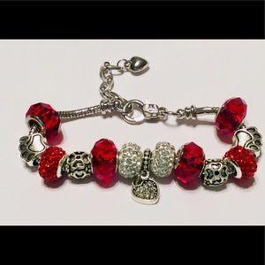 Red European Bracelet